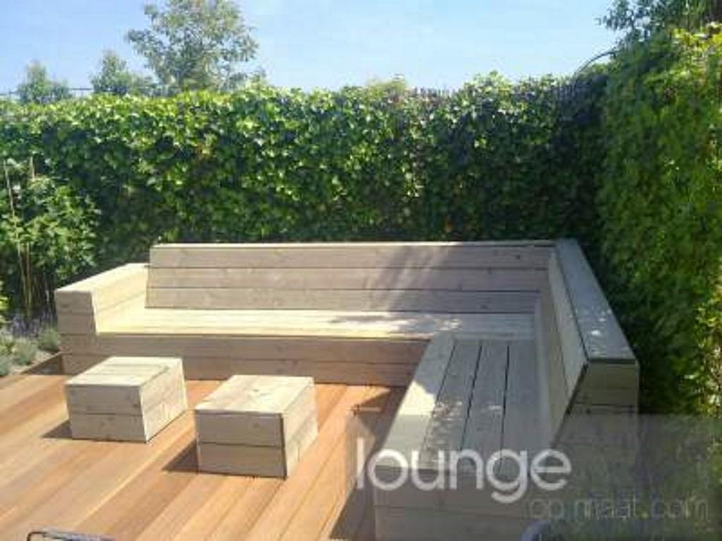 Hoekbank Tuin Hout : Houten bank tuin houten tuinbank maken en ligbed op wielen with