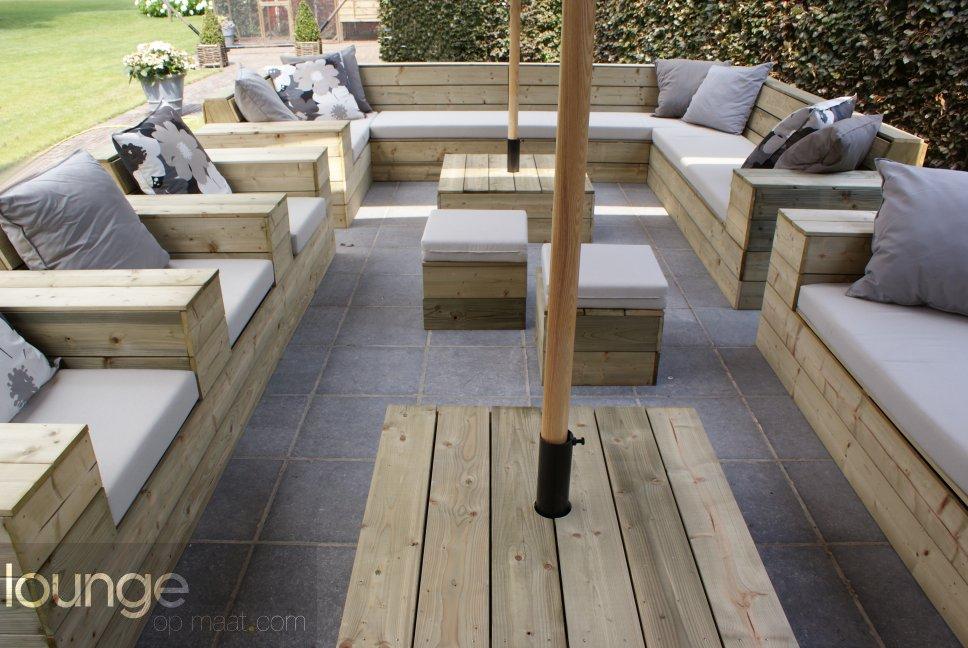 Houten Balkon Meubels : Loungeopmaat.com houten meubelen op maat